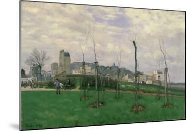 View of Montmartre from the Cité Des Fleurs, 1869-Alfred Sisley-Mounted Giclee Print