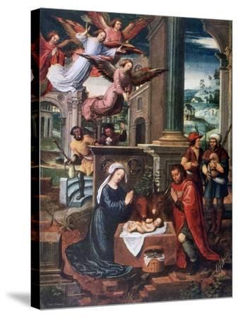 The Nativity, C1500-1550-Ambrosius Benson-Stretched Canvas Print