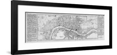 Map of London, 1700-Augustae Vindelicorum-Framed Giclee Print