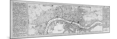 Map of London, 1700-Augustae Vindelicorum-Mounted Giclee Print