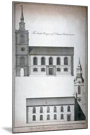 Two 17th Century London Churches, C1750-Benjamin Cole-Mounted Giclee Print