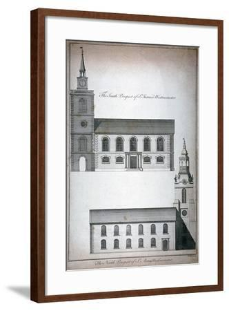 Two 17th Century London Churches, C1750-Benjamin Cole-Framed Giclee Print