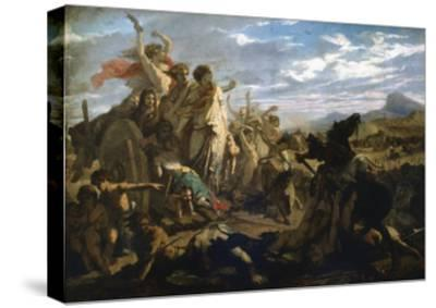 The Women of Gaul, C1827-1893-Auguste Barthelemy Glaize-Stretched Canvas Print