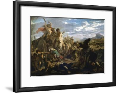 The Women of Gaul, C1827-1893-Auguste Barthelemy Glaize-Framed Giclee Print