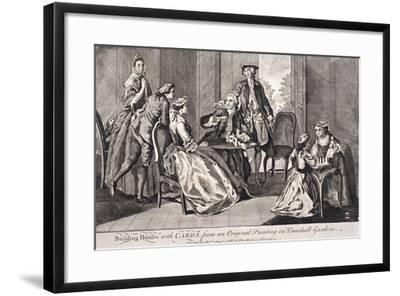 Building Houses with Cards', C1745-Benjamin Cole-Framed Giclee Print