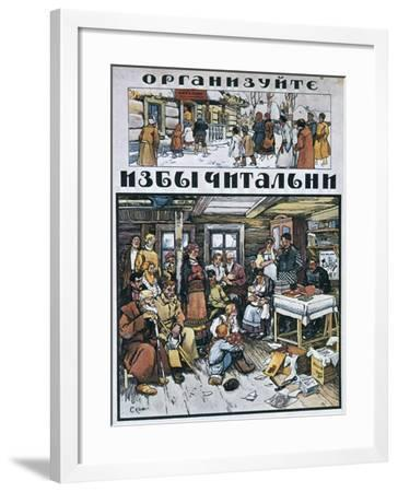 Fit Out Reading Rooms!, 1919-Alexander Apsit-Framed Giclee Print