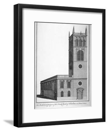 All Hallows Church, Bread Street, London, 1750-Benjamin Cole-Framed Giclee Print