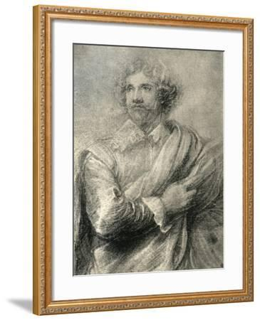 Study for the Painting of the Engraver, Peter De Jode the Younger, 1913-Sir Anthony Van Dyck-Framed Giclee Print