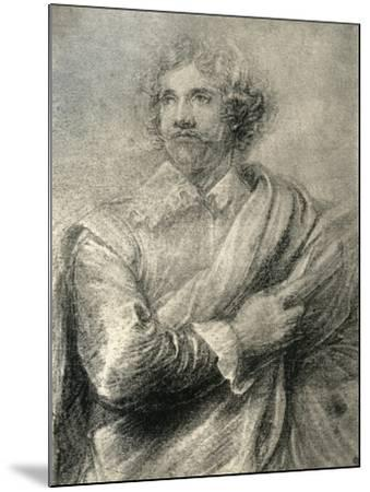 Study for the Painting of the Engraver, Peter De Jode the Younger, 1913-Sir Anthony Van Dyck-Mounted Giclee Print