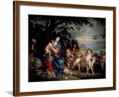Rest on the Flight into Egypt (Virgin with Partridge), C1629-1630-Sir Anthony Van Dyck-Framed Giclee Print