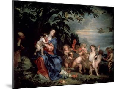 Rest on the Flight into Egypt (Virgin with Partridge), C1629-1630-Sir Anthony Van Dyck-Mounted Giclee Print