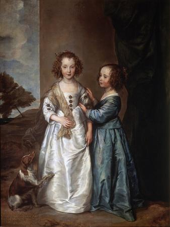 Portrait of Elizabeth and Philadelphia Wharton, 1640-Sir Anthony Van Dyck-Framed Giclee Print
