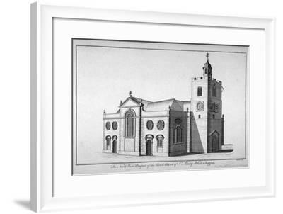 North-West View of the Church of St Mary, Whitechapel, London, C1800-Benjamin Cole-Framed Giclee Print