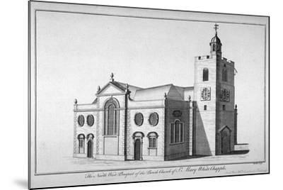 North-West View of the Church of St Mary, Whitechapel, London, C1800-Benjamin Cole-Mounted Giclee Print