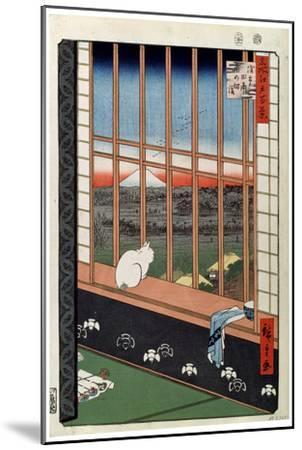 Superb A Cat Sitting On The Window Seat 19Th Century Giclee Print By Ando Hiroshige Art Com Gmtry Best Dining Table And Chair Ideas Images Gmtryco