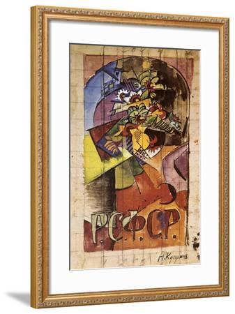Flowers, 1918-Alexander Kuprin-Framed Giclee Print