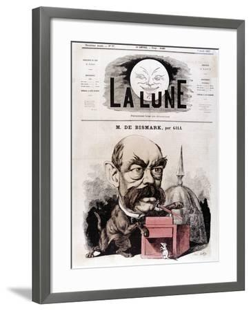 Otto Von Bismarck German Statesman, When Conservative Deputy and Inspector of Dykes, 1867-Andre Gill-Framed Giclee Print