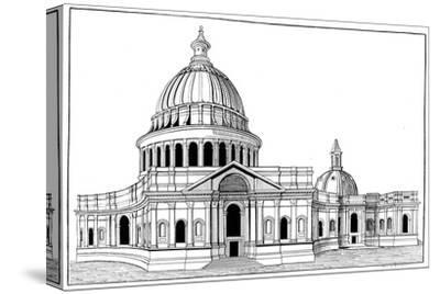 Sir Christopher Wren's Original Model for St Paul's Cathedral, London, C1670-1672-Arthur Robertson-Stretched Canvas Print