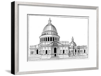 Sir Christopher Wren's Original Model for St Paul's Cathedral, London, C1670-1672-Arthur Robertson-Framed Giclee Print
