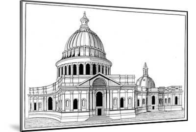 Sir Christopher Wren's Original Model for St Paul's Cathedral, London, C1670-1672-Arthur Robertson-Mounted Giclee Print