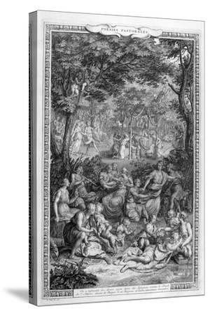 Poetry Pastorales, 1728-1729-Bernard Picart-Stretched Canvas Print