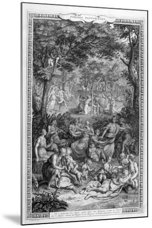 Poetry Pastorales, 1728-1729-Bernard Picart-Mounted Giclee Print
