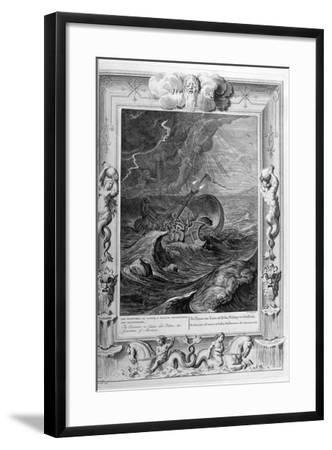 The Dioscuri (Castor and Pollu) Protect a Ship, 1733-Bernard Picart-Framed Giclee Print