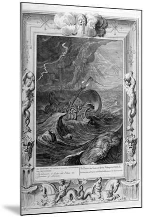 The Dioscuri (Castor and Pollu) Protect a Ship, 1733-Bernard Picart-Mounted Giclee Print