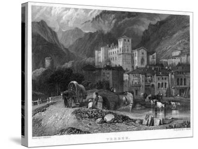 Verrex, Val D'Aosta, Italy, 19th Century-C Heath-Stretched Canvas Print