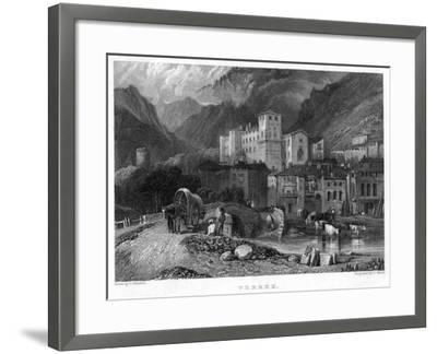 Verrex, Val D'Aosta, Italy, 19th Century-C Heath-Framed Giclee Print