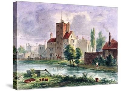 Canonbury House, Islington, London, 1835-CH Matthews-Stretched Canvas Print