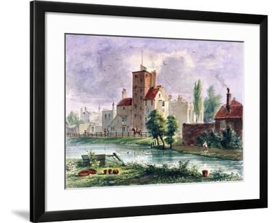 Canonbury House, Islington, London, 1835-CH Matthews-Framed Giclee Print
