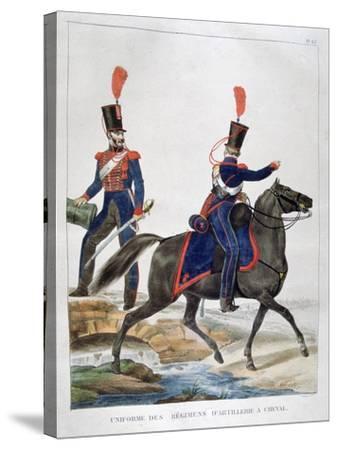 Uniform of a Regiment of Horse Artillery, France, 1823-Charles Etienne Pierre Motte-Stretched Canvas Print