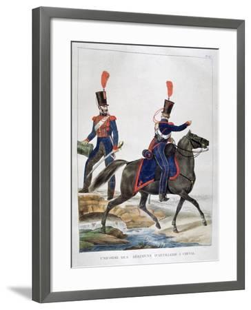 Uniform of a Regiment of Horse Artillery, France, 1823-Charles Etienne Pierre Motte-Framed Giclee Print