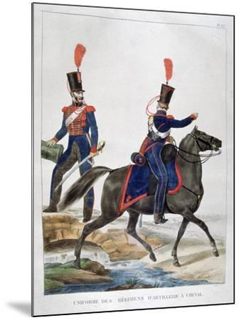 Uniform of a Regiment of Horse Artillery, France, 1823-Charles Etienne Pierre Motte-Mounted Giclee Print