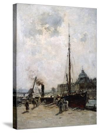 View of the Institute, 19th Century-Charles Lapostolet-Stretched Canvas Print