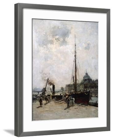 View of the Institute, 19th Century-Charles Lapostolet-Framed Giclee Print