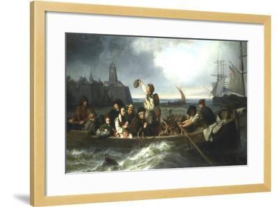 Emigration to America, 19th Century-Charles Volkmar-Framed Giclee Print