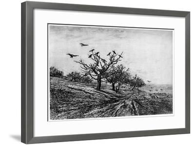 Arbre a Corbeaux, 1840-1875-Charles François Daubigny-Framed Giclee Print