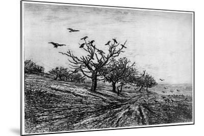 Arbre a Corbeaux, 1840-1875-Charles François Daubigny-Mounted Giclee Print