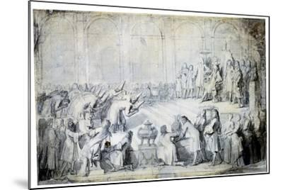The Siamese Ambassadors before the King, 1686-Charles Le Brun-Mounted Giclee Print