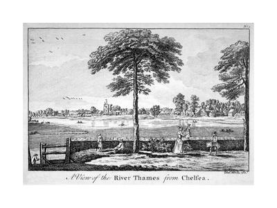 View of the River Thames from Chelsea, London, 1750-Charles White-Framed Giclee Print