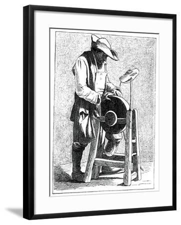Knife Grinder, 1737-1742- Bouchardon-Framed Giclee Print