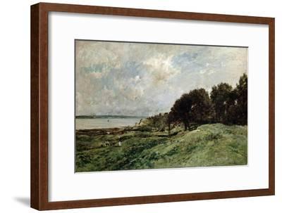 The Seashore Near Villerville, 1875-Charles François Daubigny-Framed Giclee Print