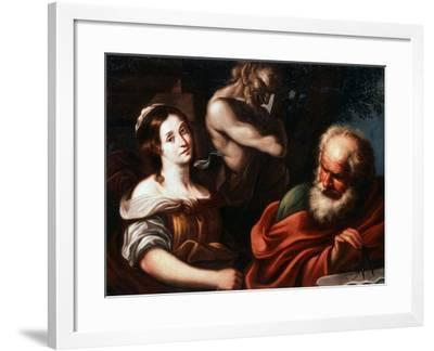 Allegory of Mathematics, Early 17th Century-Bernardo Strozzi-Framed Giclee Print