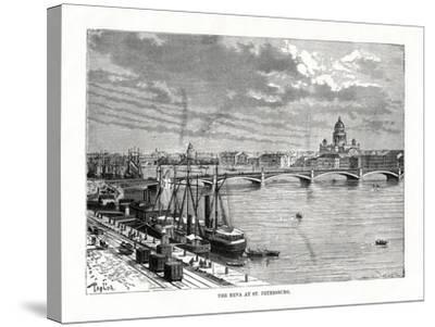 The River Neva, St Petersburg, 1879-C Laplante-Stretched Canvas Print