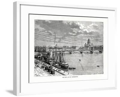 The River Neva, St Petersburg, 1879-C Laplante-Framed Giclee Print