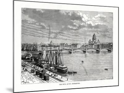 The River Neva, St Petersburg, 1879-C Laplante-Mounted Giclee Print