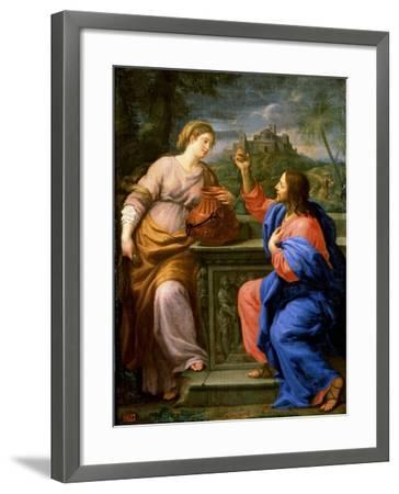 Christ and the Samaritan Woman at Jacob's Well'. C.17th Century-Carlo Maratta-Framed Giclee Print