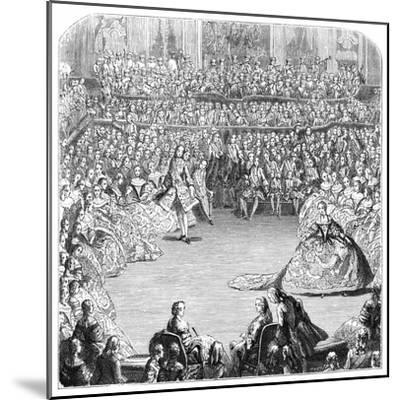 Minuet Dancer and the King, 1754-Charles Nicolas Cochin-Mounted Giclee Print